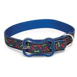 View Image 1 of Super Stars & Bones Dog Collar - Blue