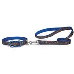 View Image 2 of Super Stars & Bones Dog Collar - Blue
