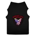 View Image 1 of Support Our Troops Patch Dog Tank Top - Black