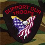View Image 2 of Support Our Troops Patch Dog Tank Top - Black