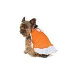 View Image 1 of Sweet Bow Tiered Dog Dress by Dogo - Orange