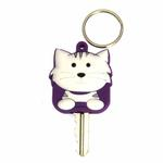 View Image 1 of Tabby Cat Key Cover - White