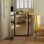View Image 1 of Také One-Touch Bamboo Pet Gate