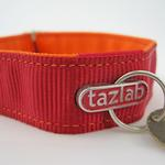 View Image 3 of Tazlab Safe-T-Stretch Dog Collar - Red Rocks Red