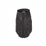 Techie Water-Resistant Harness Dog Coat - Black