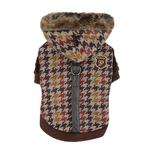 View Image 2 of Tessell  Dog Jacket by Puppia - Brown