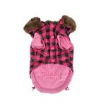 View Image 3 of TGIF Hooded Winter Vest by Puppia - Pink