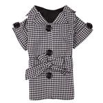 View Image 2 of The First Lady Gingham Dog Trench Coat by East Side Collection