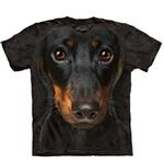View Image 1 of The Mountain Human T-Shirt - Dachshund Head