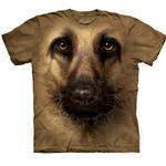 View Image 1 of The Mountain Human T-Shirt - German Shepherd Face