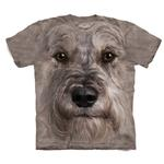 View Image 1 of The Mountain Human T-Shirt - Miniature Schnauzer Face