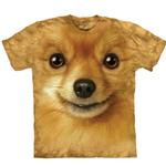 View Image 1 of The Mountain Human T-Shirt - Pomeranian Face