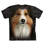View Image 1 of The Mountain Human T-Shirt - Sheltie Face