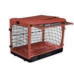 View Image 1 of The Other Door Steel Dog Crate Plus - Brick