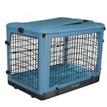 View Image 1 of The Other Door Steel Dog Crate Plus - Ocean Blue