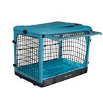 View Image 2 of The Other Door Steel Dog Crate Plus - Ocean Blue