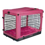View Image 1 of The Other Door Steel Dog Crate Plus - Pink
