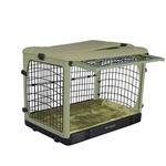View Image 1 of The Other Door Steel Dog Crate Plus - Sage