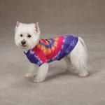 View Image 3 of Tie Dye Peace Sign Dog T-Shirt - Purple