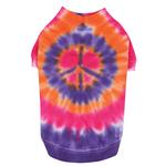 View Image 2 of Tie Dye Peace Sign Dog T-Shirt - Purple