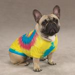 View Image 3 of Tie Dye Peace Sign Dog T-Shirt - Yellow
