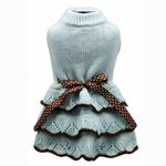 View Image 1 of Tiffany Sweater Dog Dress by Hip Doggie