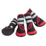 View Image 2 of Trail Trackers Dog Boots by Doggles - Red and Black