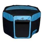 View Image 1 of Travel Lite Soft-Sided Pet Pen - Ocean Blue
