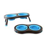 View Image 2 of Traveling Pet Feeder by Popware - Blue