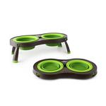 View Image 2 of Traveling Pet Feeder by Popware - Green