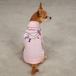 View Image 1 of Trendy Necklace Dog T-Shirt - Pink