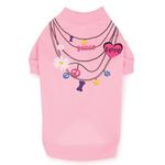 View Image 2 of Trendy Necklace Dog T-Shirt - Pink