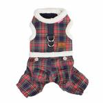 View Image 3 of Trinity Dog Harness Jumpsuit by Pinkaholic - Navy