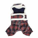 View Image 2 of Trinity Dog Harness Jumpsuit by Pinkaholic - Navy