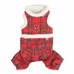 View Image 3 of Trinity Dog Harness Jumpsuit by Pinkaholic - Red