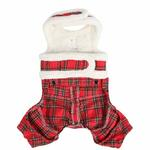 View Image 2 of Trinity Dog Harness Jumpsuit by Pinkaholic - Red