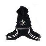 View Image 1 of Tristan Black Velour Dog Jumpsuit