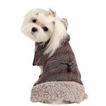 View Image 1 of Twilight Hooded Dog Cape by Pinkaholic - Gray
