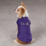 View Image 6 of Ultra Violet Reversible Houndstooth Dog Vest