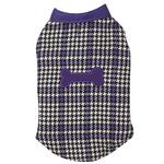 View Image 3 of Ultra Violet Reversible Houndstooth Dog Vest