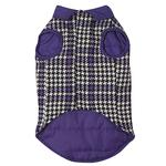 View Image 4 of Ultra Violet Reversible Houndstooth Dog Vest