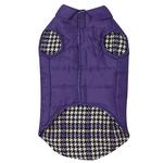 View Image 2 of Ultra Violet Reversible Houndstooth Dog Vest