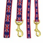 View Image 2 of Union Jack Dog Leash by Up Country