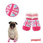 View Image 1 of Union Jack Dog Socks by Puppia - Pink