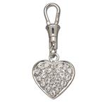View Image 1 of Unity Collar Charm by Doggles - Pave Clear Heart