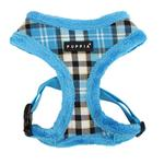 View Image 3 of Uptown Argyle Dog Harness by Puppia - Blue