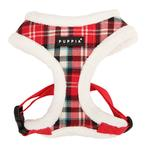View Image 3 of Uptown Argyle Dog Harness by Puppia - Red