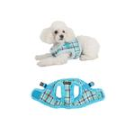 View Image 2 of Uptown Dog Harness by Puppia - Aqua