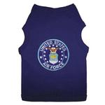U.S. Air Force Blue Patch Dog Tank Top - Navy Blue
