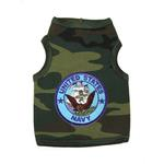 View Image 1 of U.S. Navy Crest Dog Tank Top - Camo